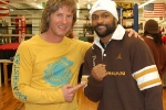 2007. Michael Kozlowski and Roy Jones Jr.