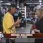 Jill Emery IFBA Welterweight Champion with her trainer Michael Kozlowski on FOX5 News