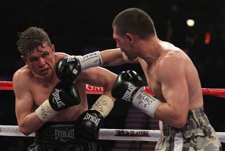 For the first time in Yuri Foreman's boxing career, he did not use his original trainer Michael  Kozlowski´s boxing style and was therefore destroyed by Pawel Wolak
