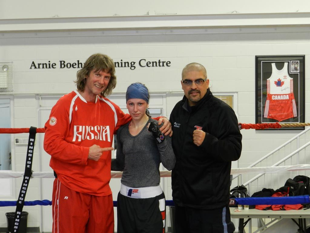 Russian-American Boxing coach, Michael Kozlowski, helps Canadian Champ Mandy Bujold prepare for the 2012 Women's World Boxing Championships in Qinhuangdao, China.