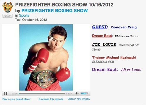 Boxing trainer Michael COACH MIKE Kozlowski on the PRIZEFIGHTER Radio