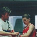 Boxing trainer Michael Kozlowski's JO Israel National CHAMPION Edgar Yakubov. Israel 1998.