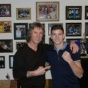 2012 Olympic Champion Luke Campbell visiting home of his American trainer Michael 'Coach Mike' Kozlowski.