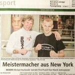 Boxing Trainer, Michael Kozlowski, trains professional boxers in Germany.
