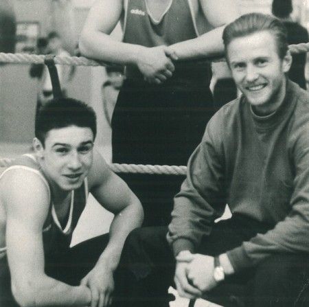 "Boxing trainer Michael ""Coach Mike"" Kozlowski with his Russian National Champion Sergey Grigoriev."