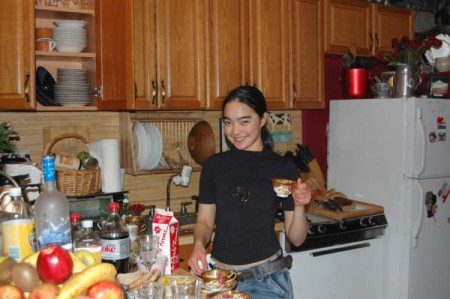 Ayanat prepares dinner for her countrymen