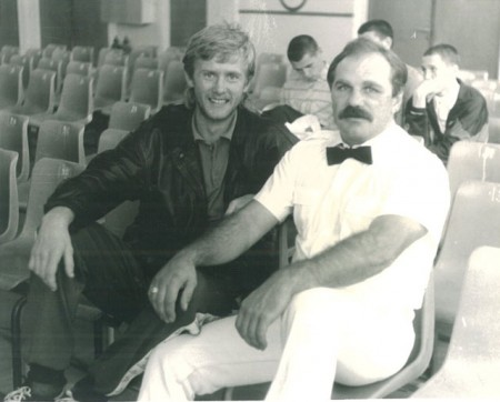 "Many years ago, at the Russian National Boxing Championship, Orel City. Referee Gennady Kurgin, Boxing trainer Michael ""Coach Mike"" Kozlowski"