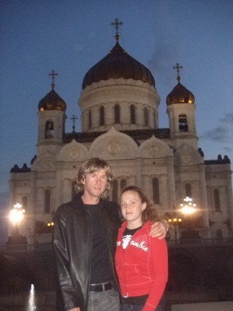We started our tour of Moscow at the beautiful cathedral Christu Spasitelu rebuilt after the fall of Communism