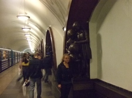 Valeria found the Moscow subway much more impressive than the subway in New York