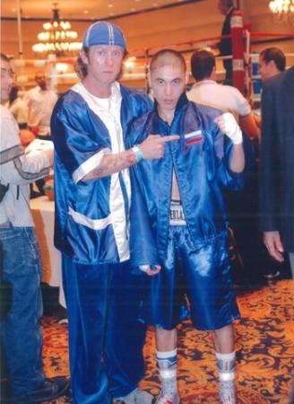 "Boxing trainer Michael ""Coach Mike"" Kozlowski with his student Khabir Suleymanov."