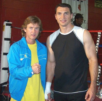 "Boxing trainer Michael ""Coach Mike"" Kozlowski and Vladimir"