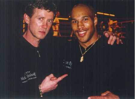 "Michael Kozlowski and his 2003 New York ""Golden Gloves"" CHAMPION Damien Rapley"