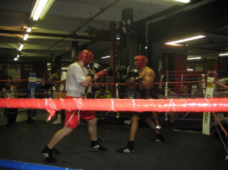 Ukrainian boxer IEGOR PLEVAKO first sparring session with an American boxer.
