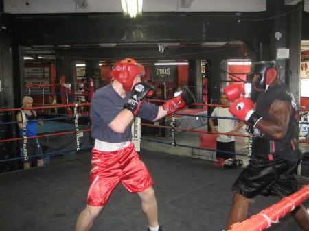 Amateur boxer Egor Plevako against professional Taurus Sykes