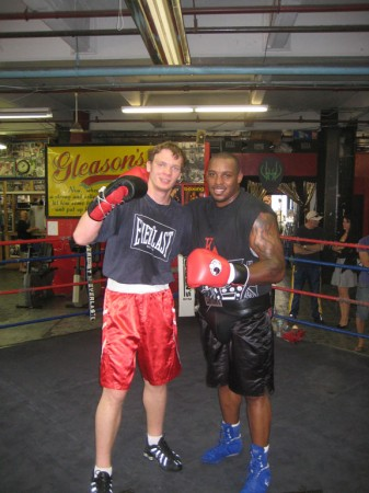 Egor Plevako and Taurus Sykes after the spar