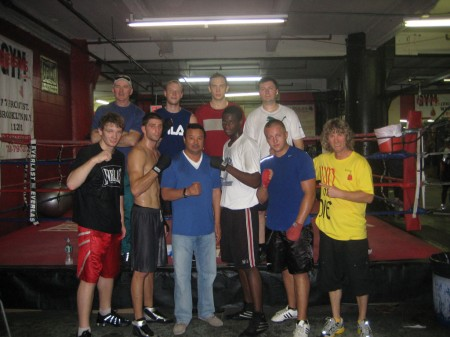"Serik Konakbaev with boxing trainer Michael ""Coach Mike"" Kozlowski's TEAM"