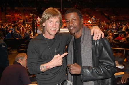 "Boxing trainer Michael ""Coach Mike"" Kozlowski and 5 time Golden Glove champion Mark Breland"