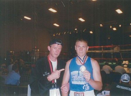 Michael Kozlowki and his 2004 USA National Junior Olympic CHAMPION Oleksandr Mamoshuk