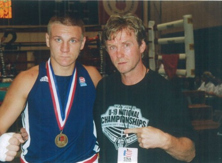 Michael Kozlowski and his 2005 USA under-19 National CHAMPION Oleksandr Mamoshuk