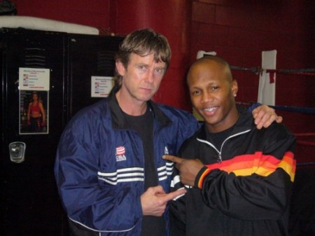"Boxing trainer Michael ""Coach Mike"" Kozlowski and Zab Judah at Gleason's Gym"
