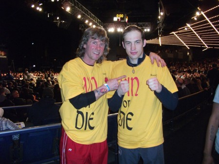 "Boxing trainer Michael ""Coach Mike"" Kozlowski and his third 2011 Golden Gloves CHAMPION Kamil Abdulshanov."