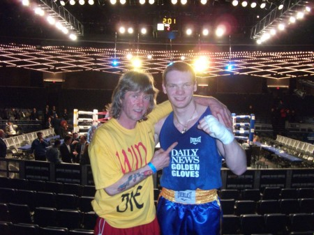 "Boxing trainer Michael ""Coach Mike"" Kozlowski and his first 2011 Golden Gloves CHAMPION Yegor Plevako."