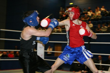Luke Campbell battles for the Gold in 2008 England National Championships.