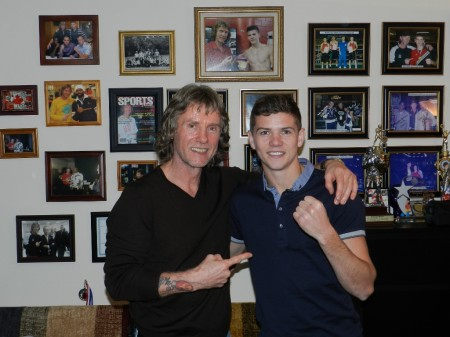 "Boxing trainer Michael ""Coach Mike"" Kozlowski and Luke Campbell."