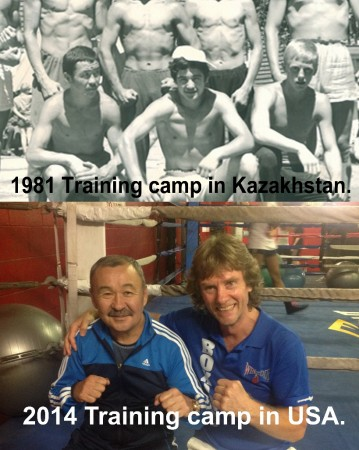 "Best Friends. Boxing Coach of USA, Michael ""Coach Mike"" Kozlowski and Boxing Coach of Kazakhstan, Tursun Yedilov."