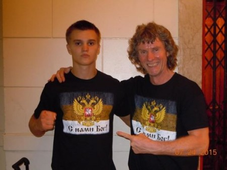 Boxing Trainer, Michael Kozlowski, and his young prospect, Nikita Miroshnichenko are ready for the fight!