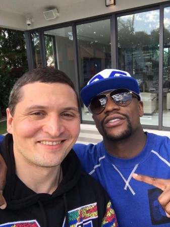 Timofei Kurgin and his business partner, the Best Boxer Floyd Mayweather.