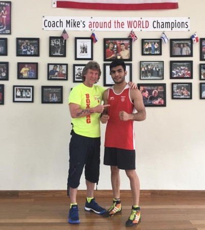 Aditya Maan with Boxing Coach Michael Kozlowski