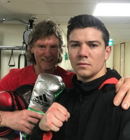 "2012 Olympic Gold Medal Champion and professional Lightweight contender, Luke Campbell, and his Russian-American coach, Michael ""Coach Mike"" Kozlowski."