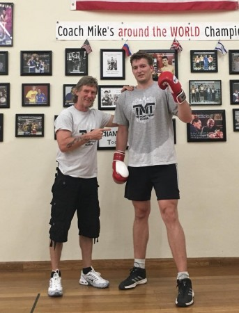 Heavyweight from Germany, Ivo Simik, continues to study Michael Kozlowski's Boxing Technique, in the USA.