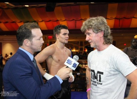 TMTRussia team representative, boxing coach, Michael Kozlowski, in the post-match interview.