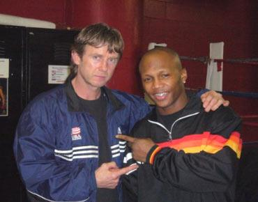 Coach Michael Kozlowski and Zab Judah a few days before the fight against Floyd Mayweather.