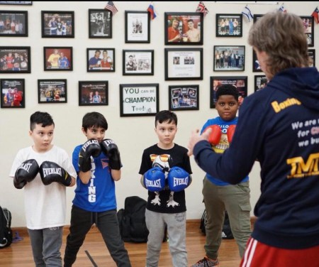 boxing classes for kids with coach mike