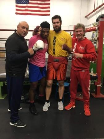 Vladimir Tereshkin and Boxing Coach Mike