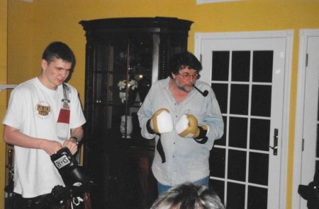 2000  Yuri Foreman and the Great Russian Actor, Alexander Shirvindt, during visiting Michael Kozlowski's friends....
