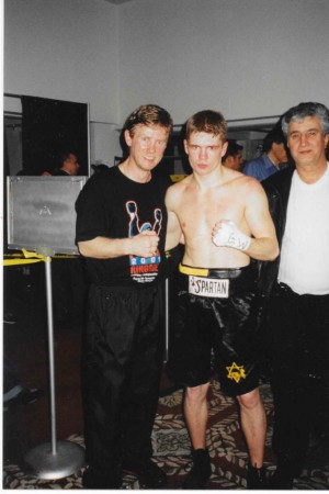 2002  Yuri Foreman and his coach Michael Kozlowski after the victorious Pro-debut!