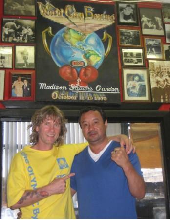 Boxing Coach Michael Kozlowski and 1981 Outstanding Amateur Boxer of the World Serik Konakbaev
