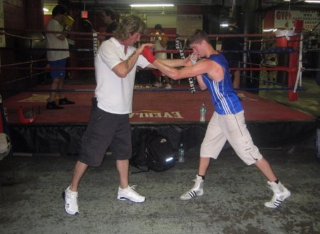 BOXING SCHOOL!!! Boxing Trainer Michael Kozlowski and 2012 Olympic Champion Luke Campbell