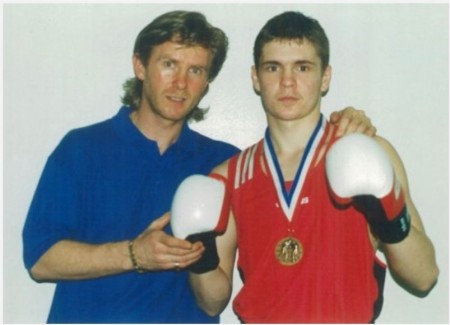 Michael Kozlowski and 2000, 2001 USA National GOLDEN GLOVES Bronze Medalist Yuri Foreman.